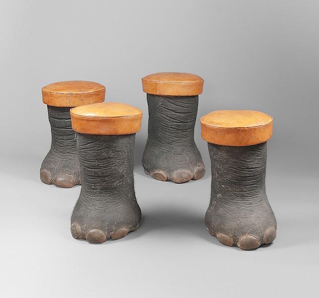 Tabourets pieds d'éléphants-4