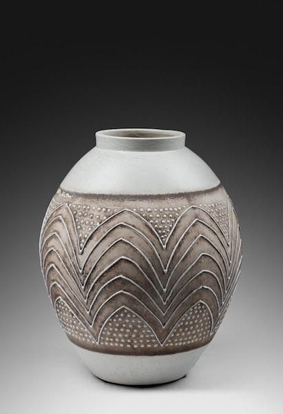 Ceramique vase palmier