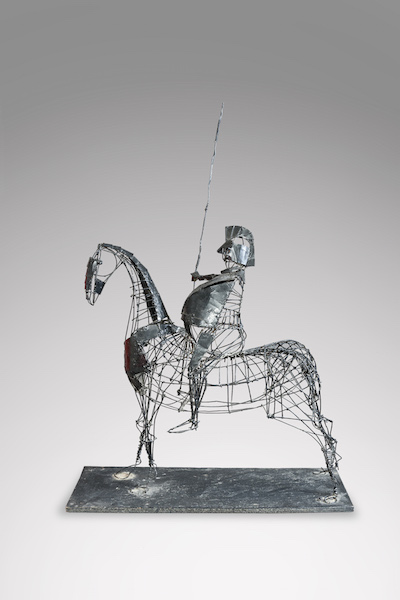 Sculpture fer cavalier 2 - copie