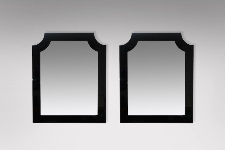 paire de miroirs laque