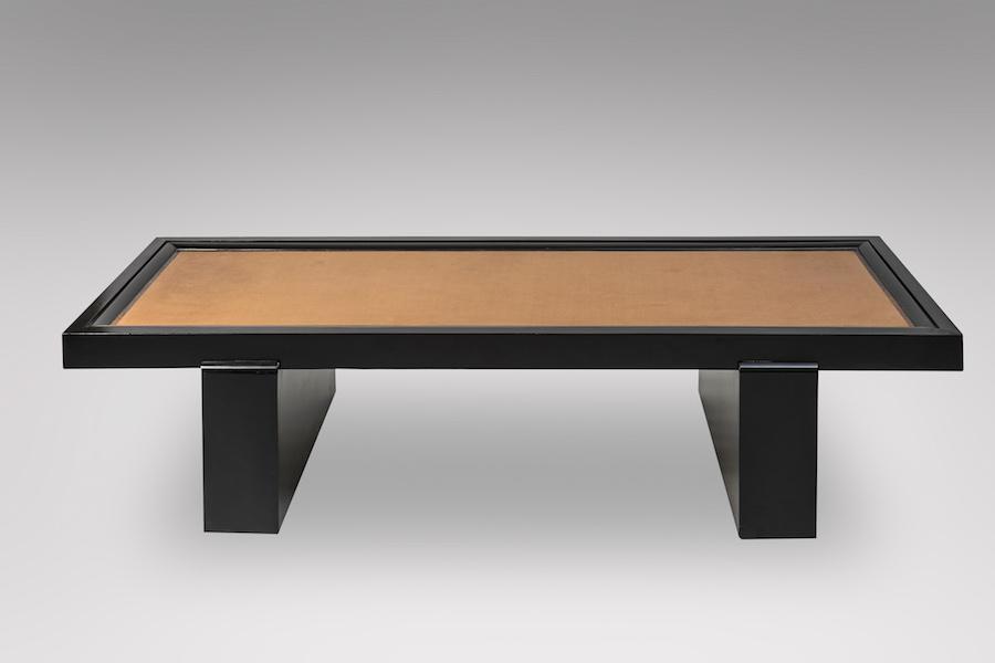 Table basse laque cuir 2 - copie