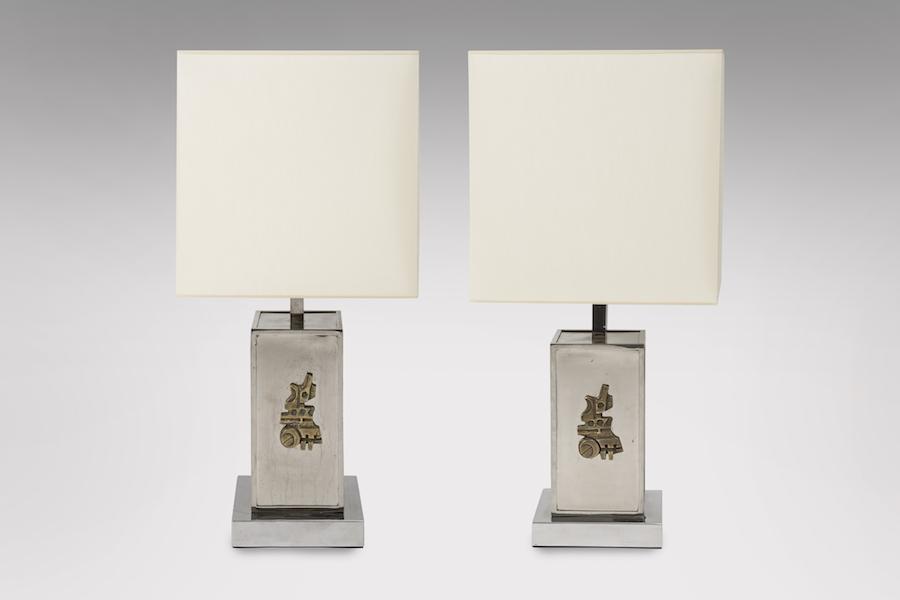 Lampes sculptures 1970