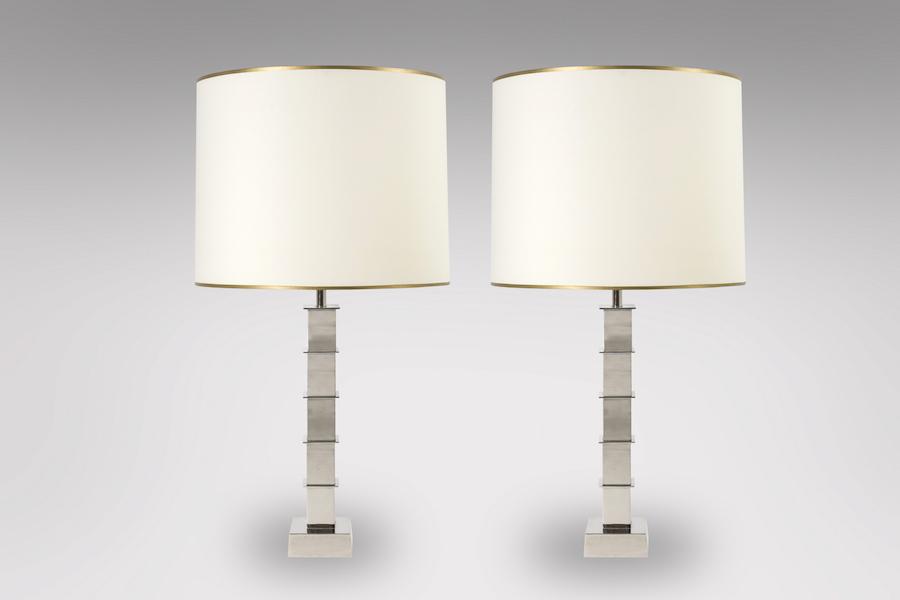 Lampes chromées 1